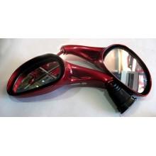 Зеркала для  скутера , без поворотов, красный