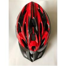Шлем красно-черный с козырьком