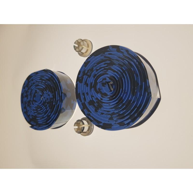 Обмотка для рулей, синий-чёрный