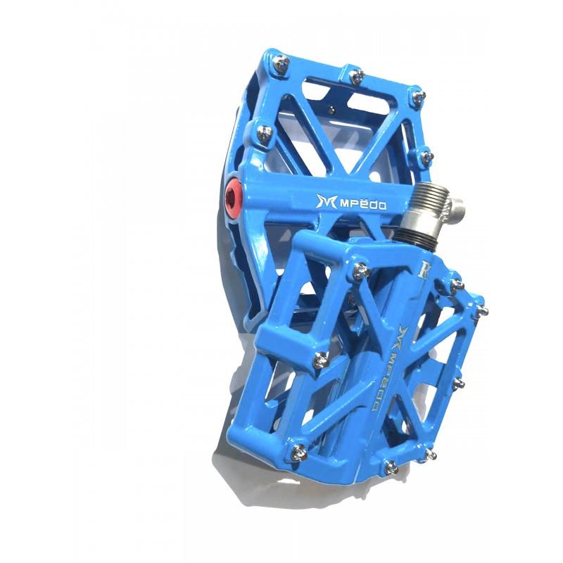 Педаль алюминиевая, модель 10, размер 9/16 , с промподшипником,  синий