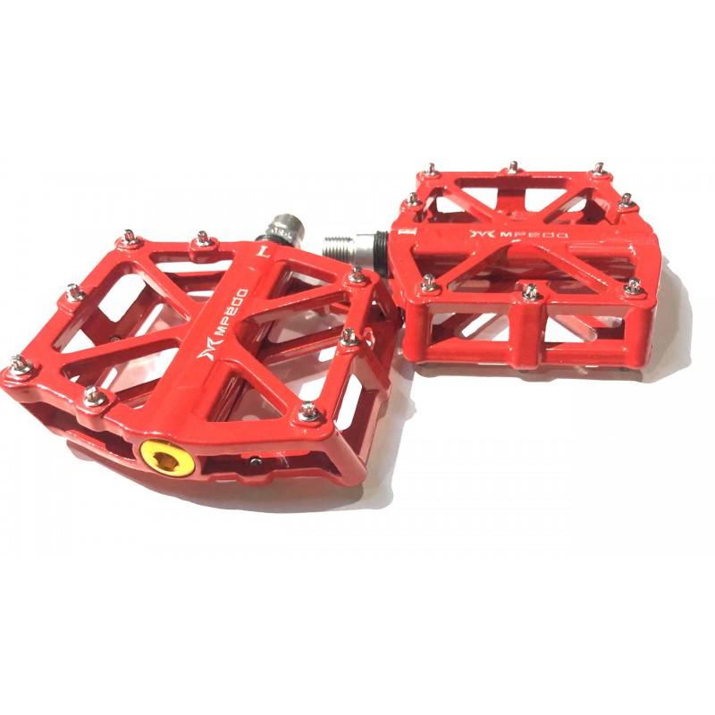 Педаль алюминиевая, модель 10, с промподшипником , размер 9/16 , красный