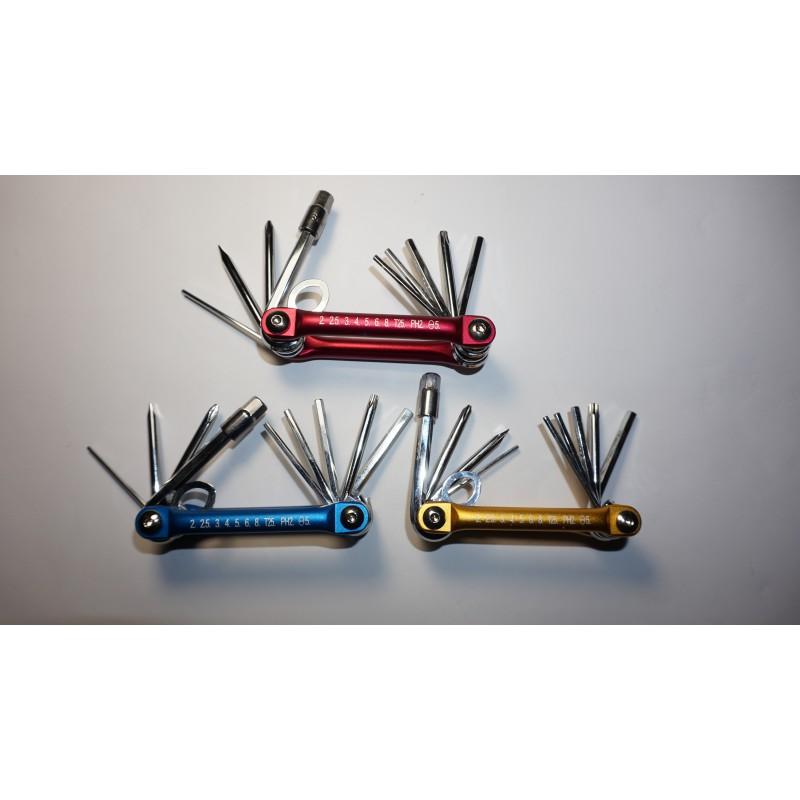 Набор ключей(шестигранников с алюминиевый ручкой) , модель M1 ,Тайвань