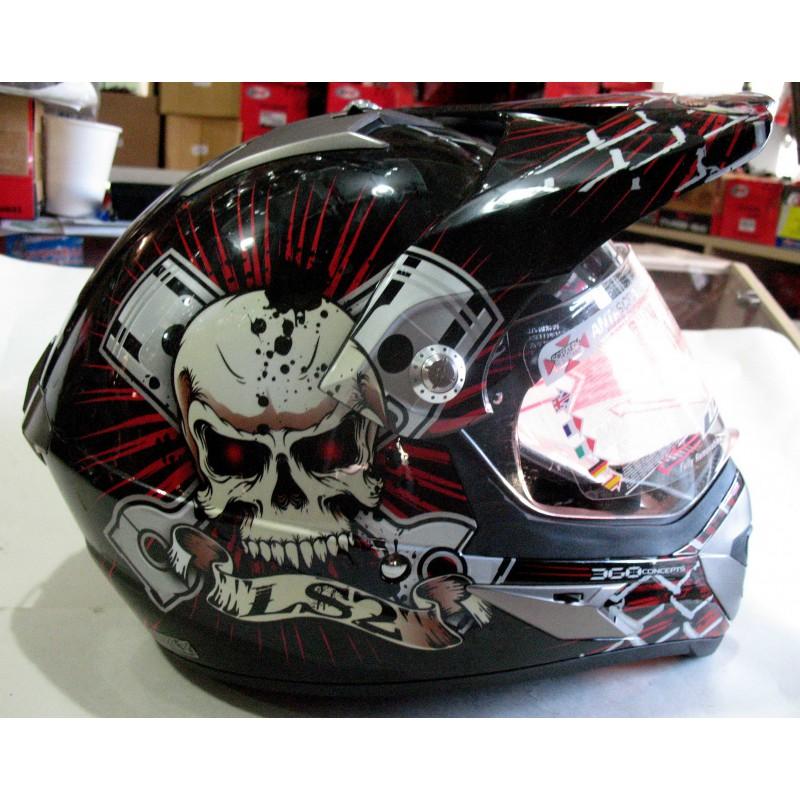 шлем кроссовый LSS черный