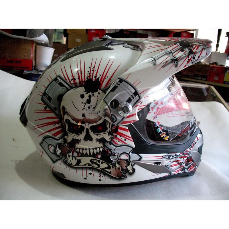 Шлем кроссовый LSS белый