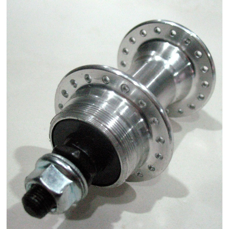 Втулка передняя, алюминиевая, под дисковая, модель 219 , 36H , серебро