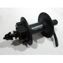 Втулка передняя алюминиевая, SHIMANO HB-M475 , 36H , черная