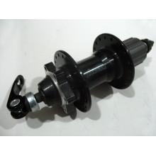 Втулка задняя , алюминиевая , под касету и диск, 9/8 скоростей , 36H ,ASSESS ,черная
