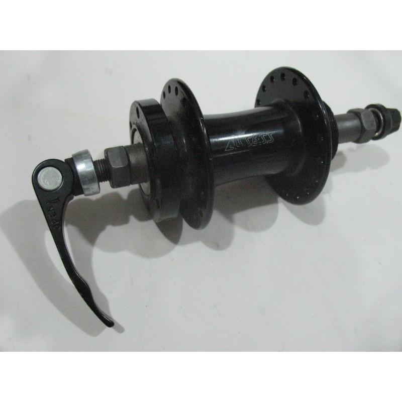 Втулка задняя алюминиевая, под дисковая , ASSESS , 36Н , черная