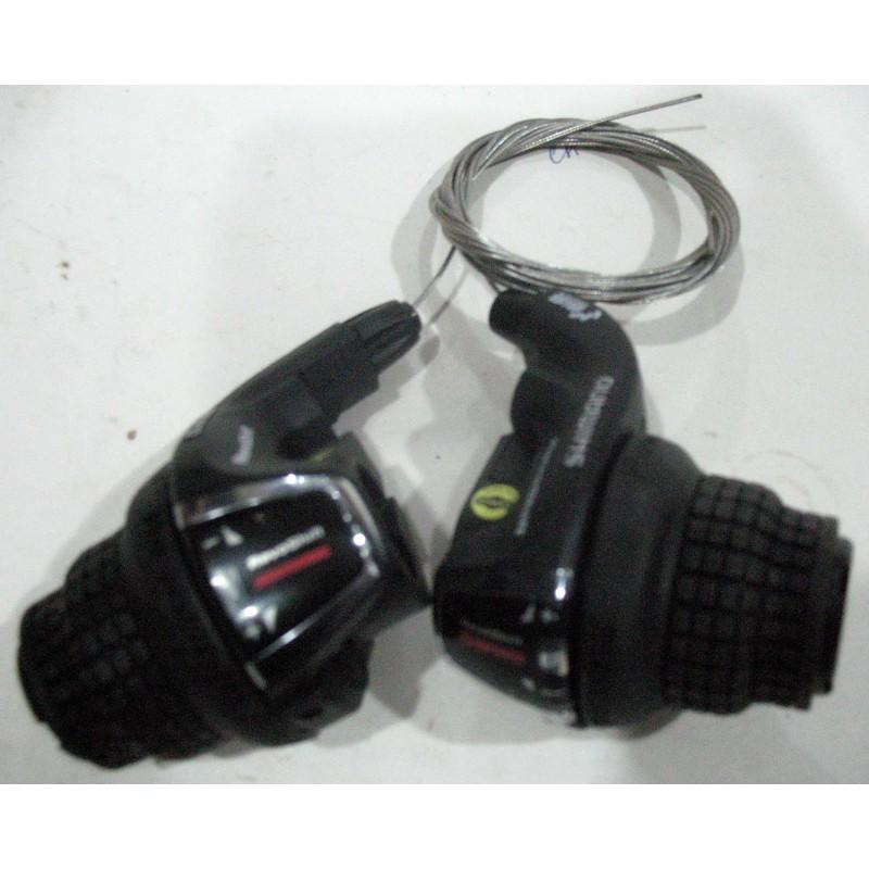 Переключатель скоростей  ( Ревшипт) SHIMANO левый/правый, модель SL-RS45, 6R/3L ,(6-ик)