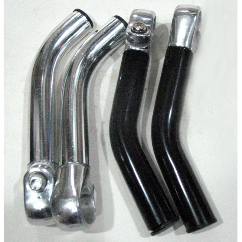 Рога алюминиевый, черный ,серебро ,пара