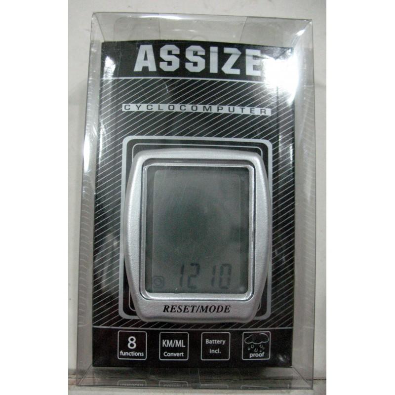 Велоспидометр ASSIZE AS408, 8 функций ,Тайвань