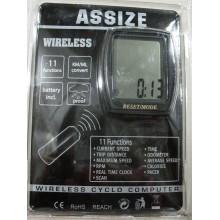 Велоспидометр ASSIZE AS4000 ,11 функций , без проводной ,Тайвань