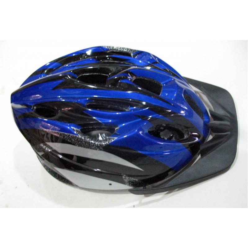 Шлем с козырьком синый-чёрный , Вело