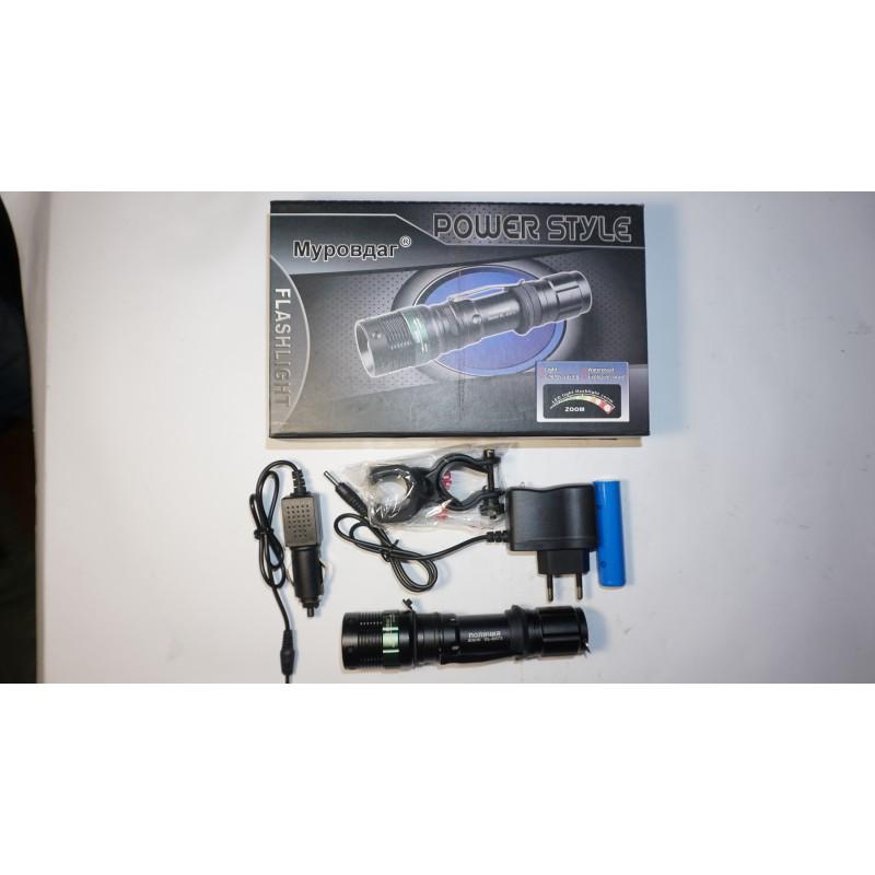Фара монокристалическая , ZOOM 500W, с креплением модель BL8373 ,зарядным устройством 220V и авто