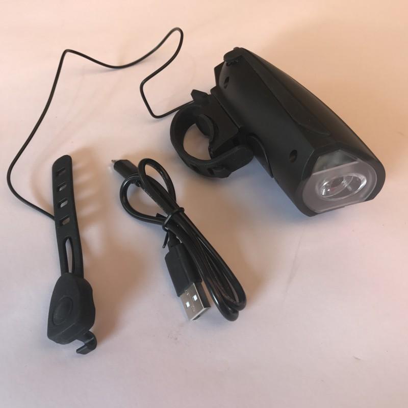 Фара с зарядкой под USB с сигналом и разными мелодиями ,модель FY-058(22)