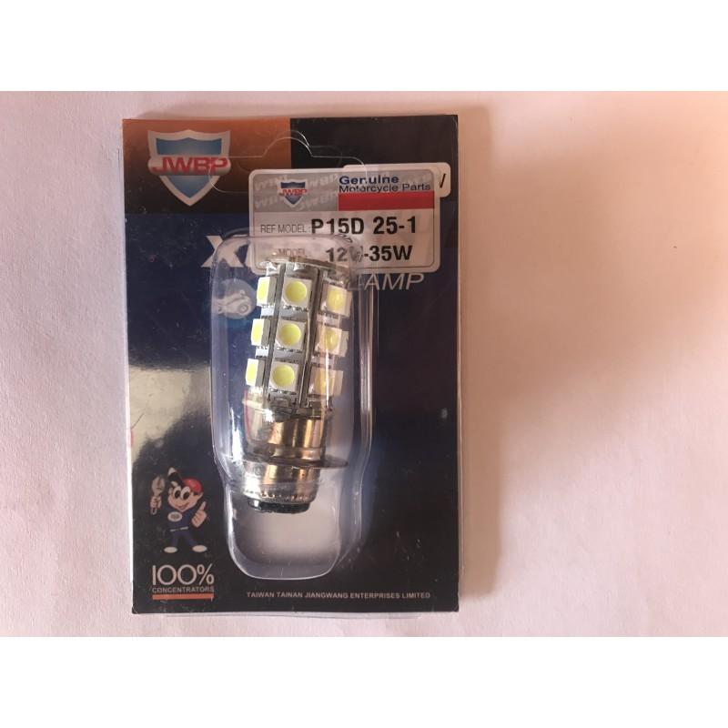Лампы фары  1 усик  12V/35W  ,  модель Р15/Д 25-1 , JWBP , Тайвань