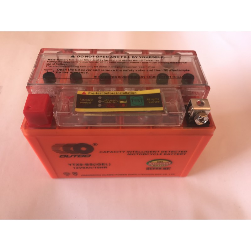 Аккумулятор  9A/12V  гель с индикатором, OUTDO ,  год выпуска 04.03.2021
