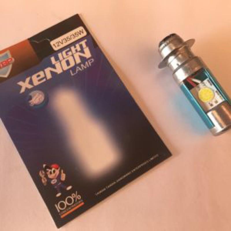 """Лампы фары диодные,   3 усика """"XENON""""  , 12V 35/35W , """"JWBP"""" , Тайвань"""