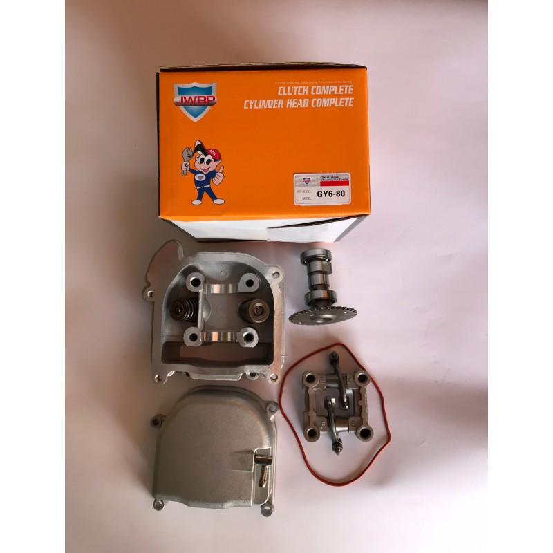 Головка цилиндра полный  комплект ,GY6-80 куб , JWBP , Тайвань