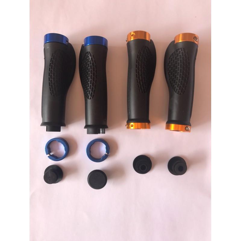 Ручки резиновые 130 мм алюминий ,анатомические ,с замком