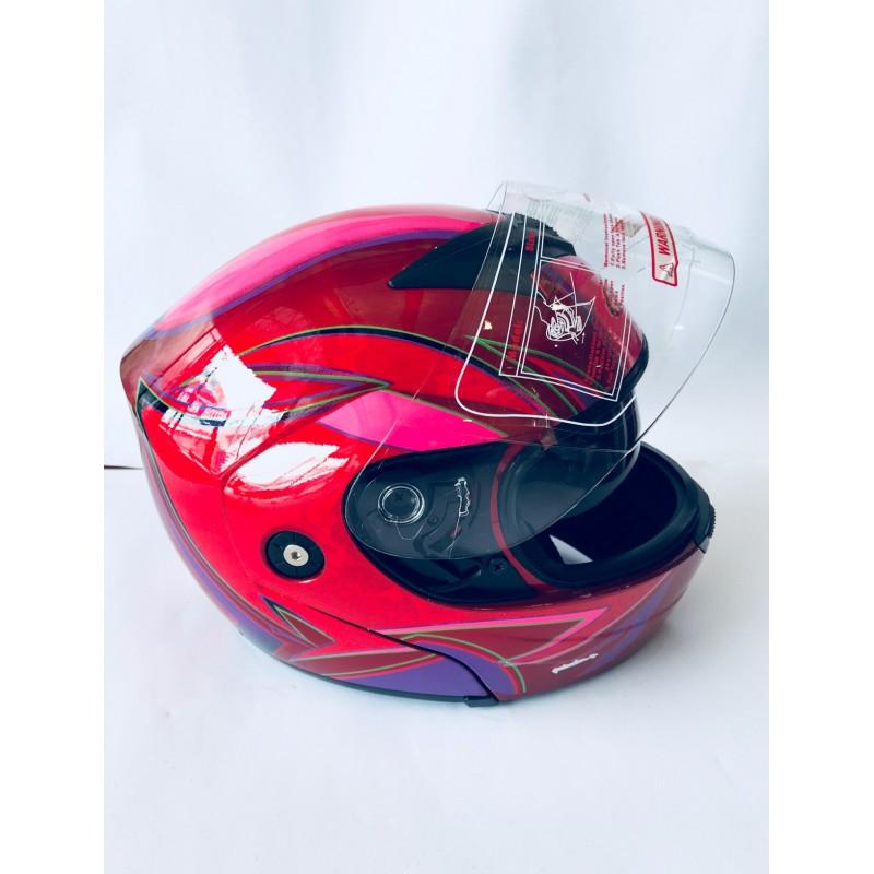 """Шлем """"трансформер"""" ,с очками ,FGN ,размер L(57,58),красный"""
