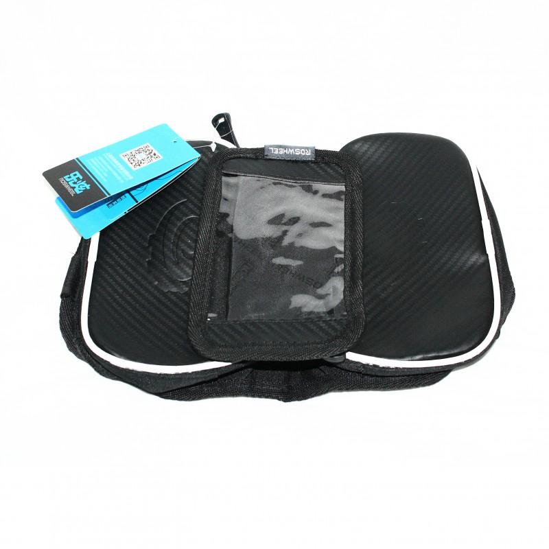 """Сумка на раму для инструмента и смартфона 5.5"""" (GA-46-1) , водонепроницаемый материал , ROSWHEEL , черный"""