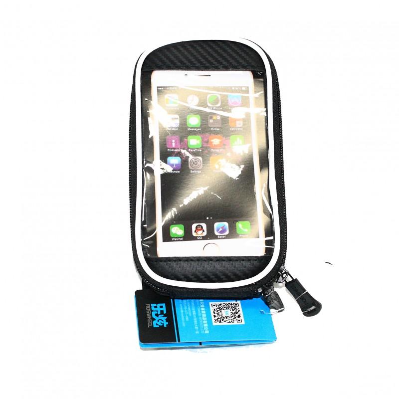 """Сумка на раму для инструмента и смартфона 5.5"""" , (GA-45) , водонепроницаемый материал , ROSWHEEL , черный"""