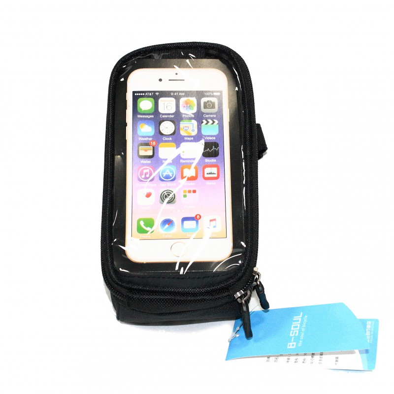 """Сумка на раму для инструмента и смартфона 5.5"""" (GA-41) , B-SOUL , черный"""