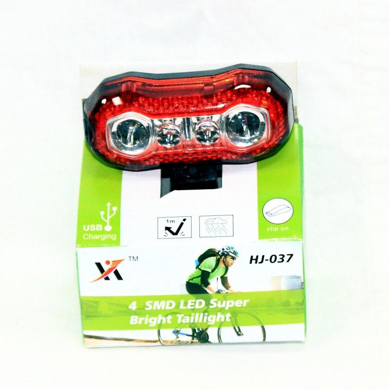 Мигалка задняя с зарядкой под USB ,модель HJ-037(GA-36) , красный