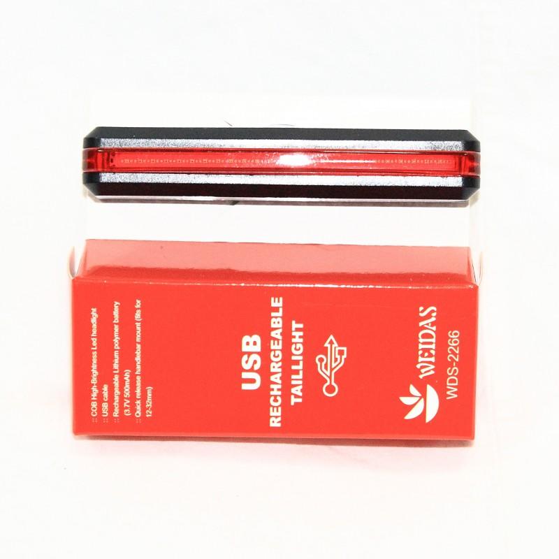 Мигалка задняя с зарядкой под USB ,модельRPL-2266 (GA-38) , красный