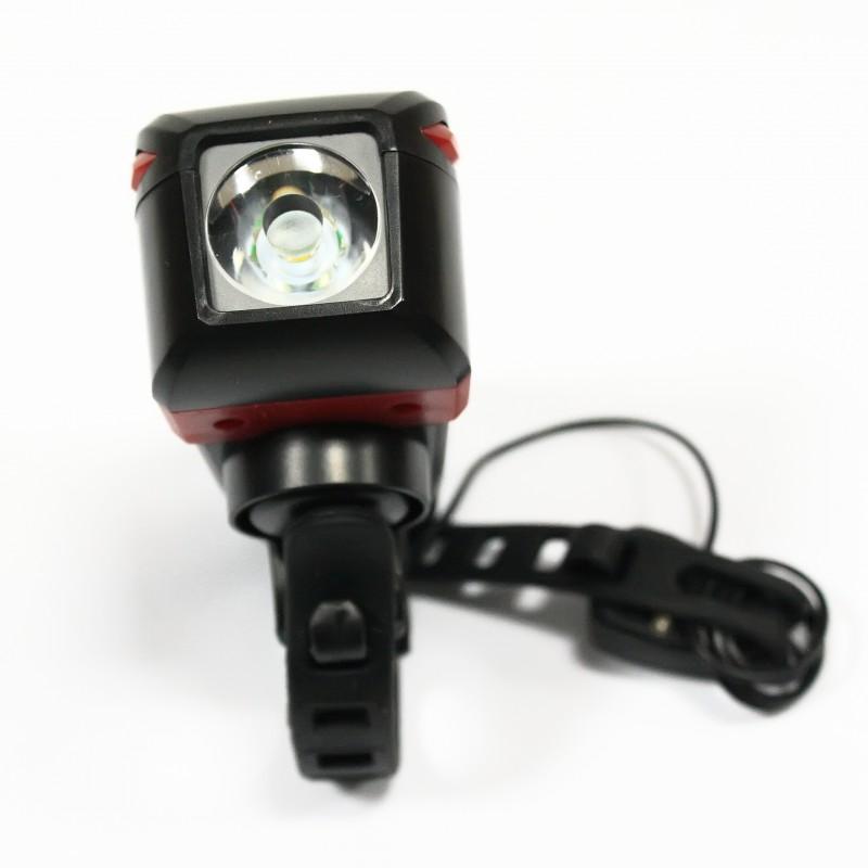 Фара с зарядкой под USB c сигналом , сенсорный , модель ZH-7599 (SA-11), черный