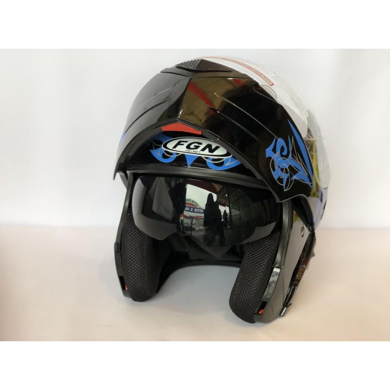 """Шлем """"трансформер"""" ,с очками ,FGN ,размер L(57,58) , чёрный-синый"""
