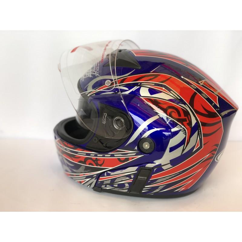 """Шлем """"трансформер"""" ,с очками ,FGN ,размер L(57,58) , синый-красный"""