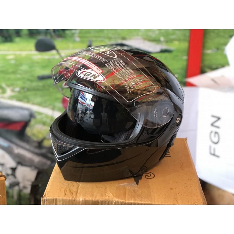 """Шлем """"трансформер"""" ,с очками ,FGN ,размер L(57,58) , чёрный"""