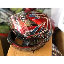 """Шлем """"трансформер"""" ,с очками ,FGN ,размер L(57,58) , красный-синый"""